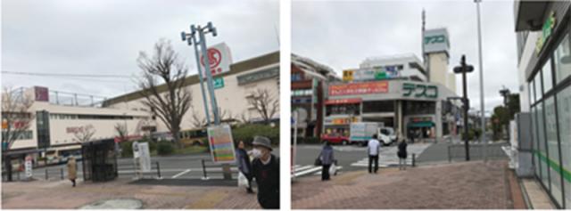 駅前交差点を渡り、直進してください。